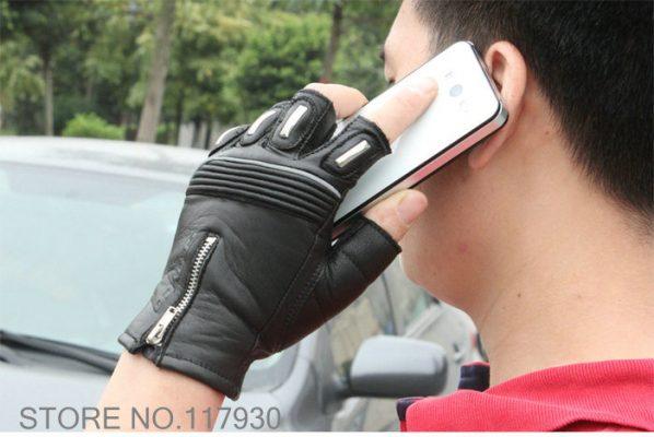 găng tay da đi xe máy